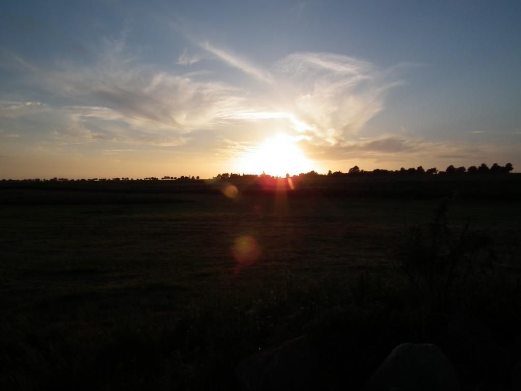Sonnenuntergang in Vopommern