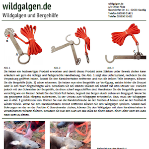 Bild: Www.Wildgalgen.de Systemflaschenzug & Wildgalgen